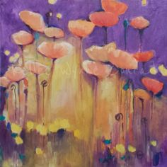 """Kellee Wynne Conrad Fine Art: New Series: Botanical Abstracts, """"Gratitude"""", acrylic and oil pastel"""