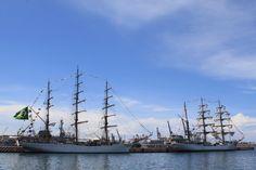 Puerto De Veracruz Mexico   ... Cisne Blanco (Brasil) y Gloria (Colombia) en el Puerto de Veracruz