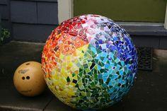 Mosaic ball by Ta-Dah, via Flickr