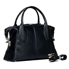 4you2wear Trendy en hippe zwarte leren tas