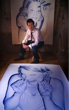 photorealistic-drawings-bic-pen-drawing. These are amazing!!!