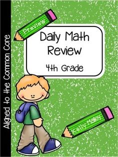 Daily Math Review    Spiral Math ReviewIn what ways are you helping students to retain math concepts and skills they have been previously taught?What additional opportunities for instruction are you providing your struggling learners?I have been using Daily Math Review in my classroom for the past five years, and I have to say that it has had the biggest impact on my math instruction by far!This resource includes 36 weeks of daily math review for fourth graders.