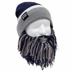 8279468ad501b Beard Head Beard Head Barbarian Knit Beanie w Beard Hat (Blue   Grey