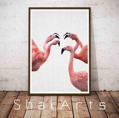 Flamingos Prints Flamingo Nursery Art Pink Flamingo by ShakArts