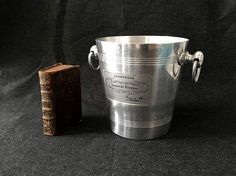 French  Champagne Ice Bucket  Laurent Perrier Reims  France  Vintage Table  Dinning  Wedding  decor Kitchen Collection  Aluminium