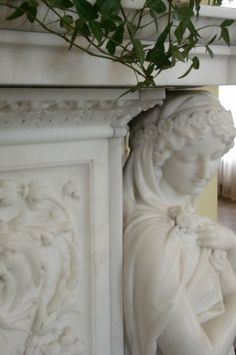 I fell in love with marble fireplaces in Ireland.  This amazing one is in the Kylemore Abbey.