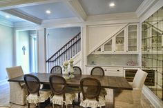Under the stairs bar  Palm Beach Staging and Designs