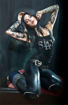 Tattoo Model - Kat Von D | www.worldtattoogallery.com/tattoo-models-gallery