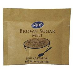 N Joy Brown Sugar Melt - for oatmeal F08-0106310-1200 - 0.46 oz brown sugar melt in individual size tear-top packet. A convenient travel siz...
