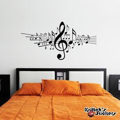 Musical Notes Vinyl Wall Decal in Music Note Wall Art Wall Art music wall art Music Wall Art, Music Decor, Wall Painting Decor, Wall Art Decor, Vinyl Wall Decals, Wall Stickers, Heart Wall Art, Inspire Me Home Decor, Wall Drawing