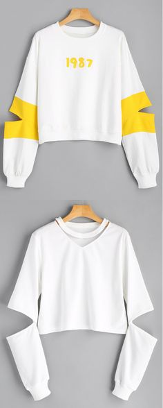 Up to 68% OFF! Number Appliqued Cut Out Sweatshirt. #Zaful #fashion #style #tops #outfits #blouses #womens tops #sweatshirts #hoodies #hoodiesoutfit #sweatshirtsoutfit #sweatshirtsforwomen #women'shoodies #womenssweatshirts #cutesweatshirts #floralhoodie #croppedhoodies #oversizedsweatshirt #winteroutfits #winterfashion #fallfashion #falloutfits #halloweencostumes #halloween #halloweenoutfits #christmas #thanksgiving #gift @zaful Extra 10% OFF Code:ZF2017