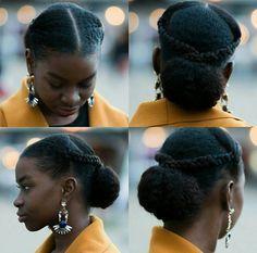 oyinhandmade:  Loving this sleek updo w/braids and a bun! #Repost @sashabasha2…