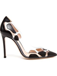 GIANVITO ROSSI - Spotted Leather and Perspex Pointed Pumps 5