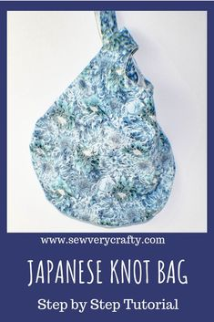 This Japanese Knot Bag is super simple to make. It is a terrific beginner bag project because it only requires beginner sewing skills. This knot bag is the perfect size for everyday use and can be made from a variety of beautiful cotton fabrics. #Handbag #sewingtutorial #sewingproject #sewingpattern
