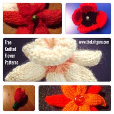 Knitted flowers are such a great way to jazz up a hat, or just as a brooch. I love making them with those bits of yarn leftover from other projects.  Here is a selection of free patterns you ...