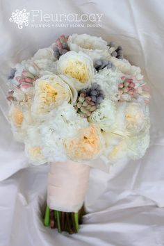 Gorgeous wedding bouquet by Fleurology Design
