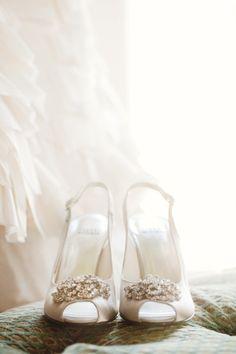 Shoes by Stuart Weitzman! White Wedding Shoes, Wedding Heels, Ivory Wedding, Wedding Day, Dream Wedding, Wedding Wows, Wedding Wishes, Wedding Dreams, Wedding Attire