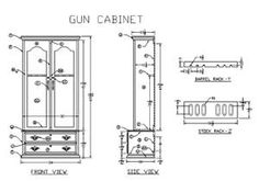 How To Build Wooden Gun Cabinet