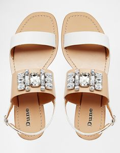 Dune Joni Embellished Barely There Flat Sandals