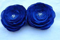 Royal blue hair flower clip, wedding hair piece, bridal flower clip, bridal headpiece, bridesmaid gift wedding hair accessories