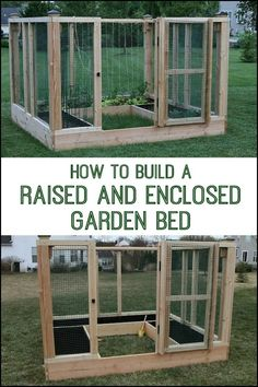 Keep critters off your plants by building a raised & enclosed garden bed!