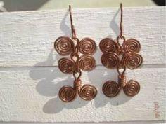 Ohrringe mit ägyptischen Spiralen - Bild vergrößern Handmade Wire Jewelry, Shops, Drop Earrings, Spirals, Earrings, Handarbeit, Jewerly, Photo Illustration, Tents