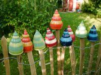 Gartenspitze Zaunspitze Keramik Gartendeko Zaunschmuck