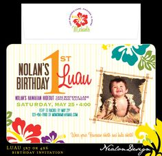 first birthday luau ideas   LUAU — Birthday Invitation