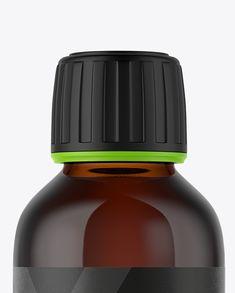 60ml Amber Glass Bottle Mockup