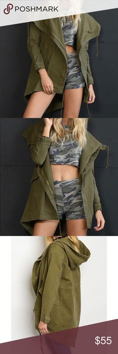 """Coming Soon!!! Army Green Utility Jacket Fabric: 100% cotton; L:37"""" B: 40"""" W: 44"""" Jackets & Coats Utility Jackets"""