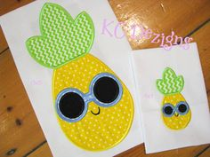 Pineapple With Round Sunglasses Applique