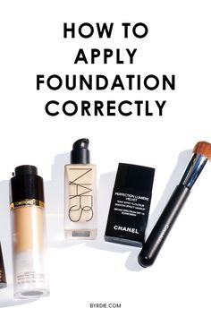 The right way to apply foundation