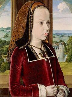 Margaret of Austria -- Circa 1490 -- Jean Hey (Master of Moulins) Netherlandish -- Oil on oak panel -- The Metropolitan Museum of Art.
