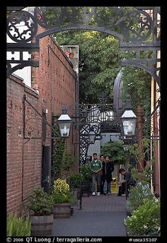 San Jose, California, I love this little alley to the Spaghetti Factory.