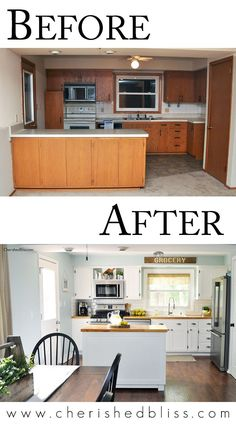Planning a Kitchen Remodel? These tips for a budget friendly kitchen makeover wi. Planning a Kitchen Remodel? These tips for a budget friendly kitchen makeover will help. Cocina Diy, Cuisines Design, Diy Interior, Pantry Interior, Interior Design, Home Living, Home Improvement Projects, Furniture Plans, Refurbished Furniture