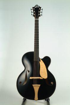 Beautiful black guitar