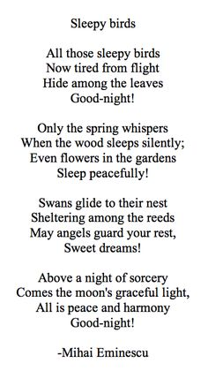 ¤ Poet Ponderings ¤ poetry, quotes & haiku - Mihai Eminescu | Sleepy Birds Peaceful Life, Writing Words, Spring Sign, Beautiful Stories, Sign I, Haiku, Poetry Quotes, Sweet Dreams, Literature