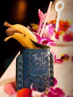 Raise a Glass to the World's CutestCocktail, a Banana Daiquiri with a Banana Dolphin garnish!