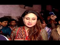 Kareena Kapoor Khan's first appearance after delivery of son Taimur. Kareena Kapoor Khan, Gossip, Interview, Delivery, Sari, Photoshoot, Youtube, Saree, Photo Shoot