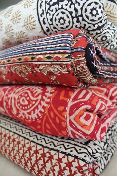 An exclusive collection of handmade kantha quilts. Visit our website for more products www.banyanvillage.com