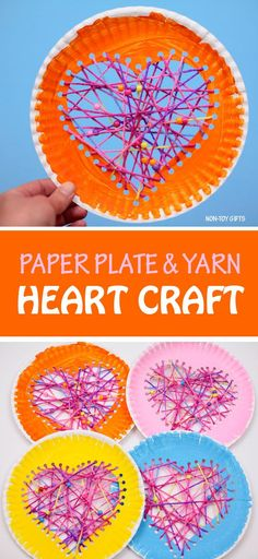 Paper plate hearts Valentines Day craft 2019 Yarn and paper plate heart craft for kids to make on Valentines Day. Fun Valentine decoration The post Paper plate hearts Valentines Day craft 2019 appeared first on Yarn ideas. Yarn Crafts For Kids, Valentine Crafts For Kids, Summer Crafts For Kids, Mothers Day Crafts, Valentine Decorations, Toddler Crafts, Fun Crafts, Valentines, Valentine Cards