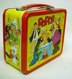 Popeye lunch box.  I wish I still had this.