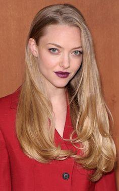 amanda seyfried, ss13, miu miu, paris, purple lips
