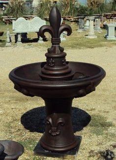 Designer Fleur De Lis 2 Tier Fountain Made In The Usa