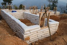 Lots of readers ask how long it takes to build with earthbags. Well, that's difficult to answer because the strength of workers varies and every job is different. But it's good to have an approximate figure to work with for planning purposes. The following calculations show how long it took to build the first 5' …