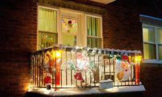 Christmas balcony decoration ideas 7