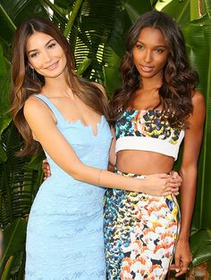 Lily Aldridge and Jasmine Tookes talk diet tips, their mutual hatred of running, and the workouts they swear by. via @byrdiebeauty