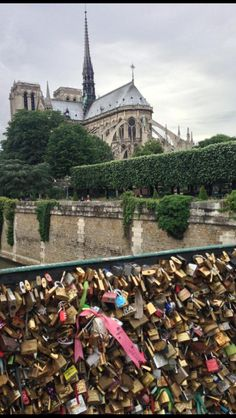 Took this this past summer in Paris. Lovers bridge and the Notre Dame