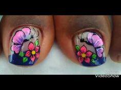 Decorados De Uñas De Los Pies - YouTube Pretty Toe Nails, Pretty Toes, Merry Christmas Gif, Cute Animal Photos, Super Nails, Nail Designs, Nail Polish, Nail Art, Make It Yourself