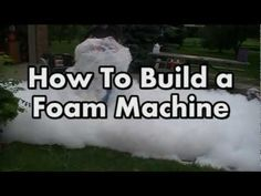 Make your Own Foam Machine! - YouTube Tried it last year and the kids went CRAZY! they LOVED IT! What cheap entertainment!